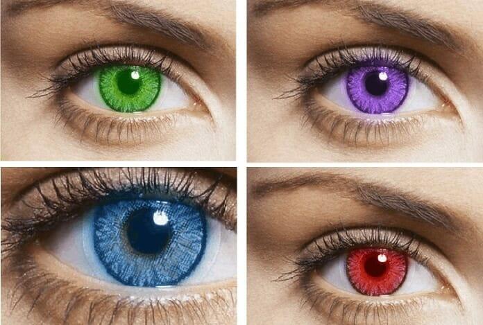 renkli kontakt lensler