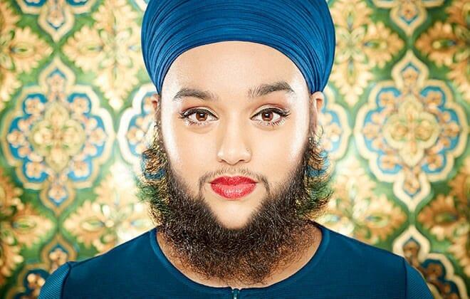 sakallı kadin