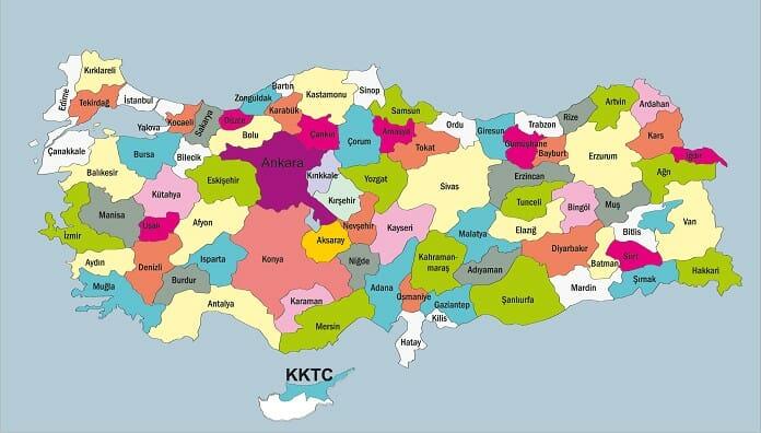 turkiye iller