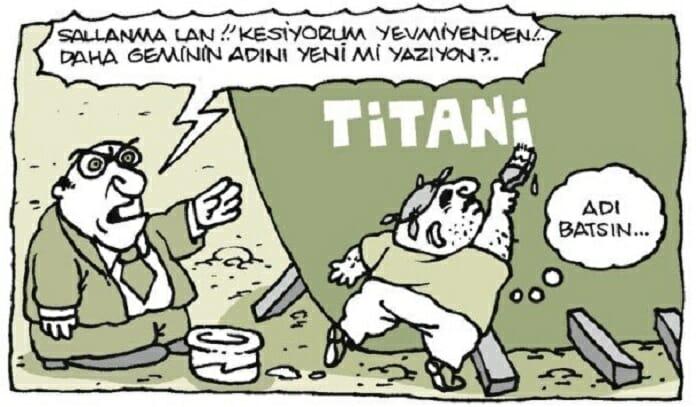 titanik filmindeki batan gemi