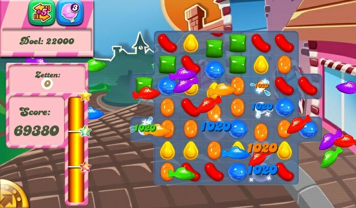 candy crush saga android screenshot if the level is completed
