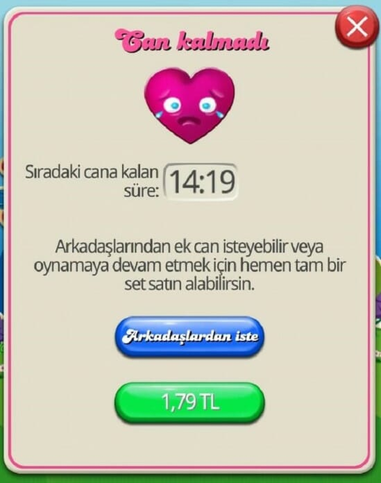 candy crush can kalmamasi