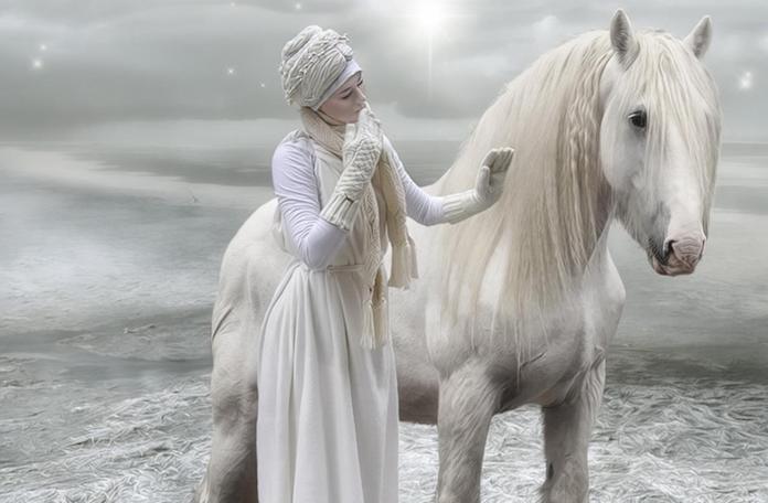 mazbut kadının bekleyen atları